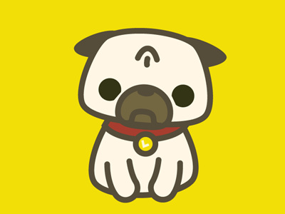 Leica the Pug Sticker Design pug vector