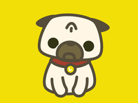 Leica the Pug Sticker Design