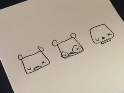 u ___ x  skull bear pen