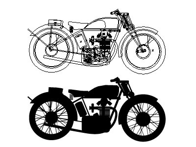 Velocette Silhouette wip motorcycle vector