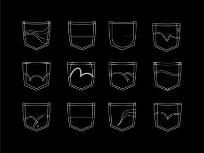 Arcuates Illustrated arcuates arcs denim illustration vector