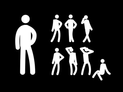 Stick Figure Poses illustration vector