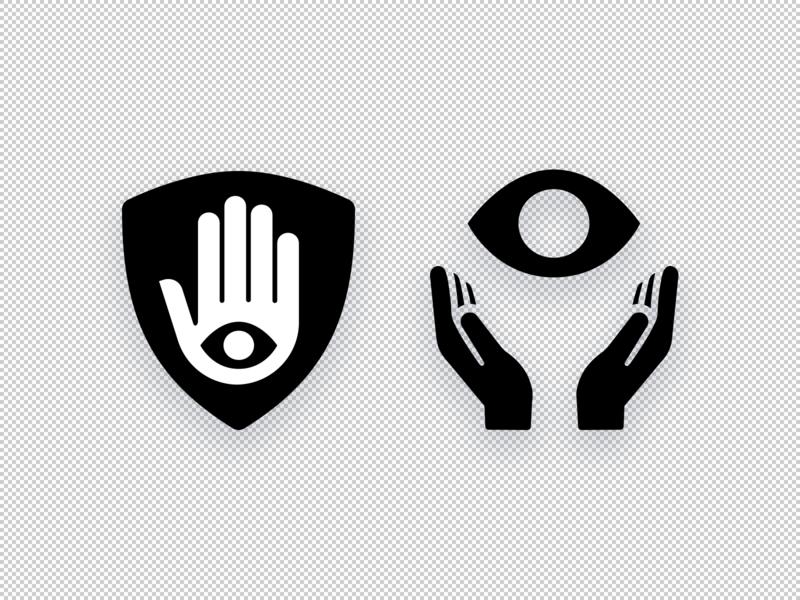 Eyecon logo illustration vector