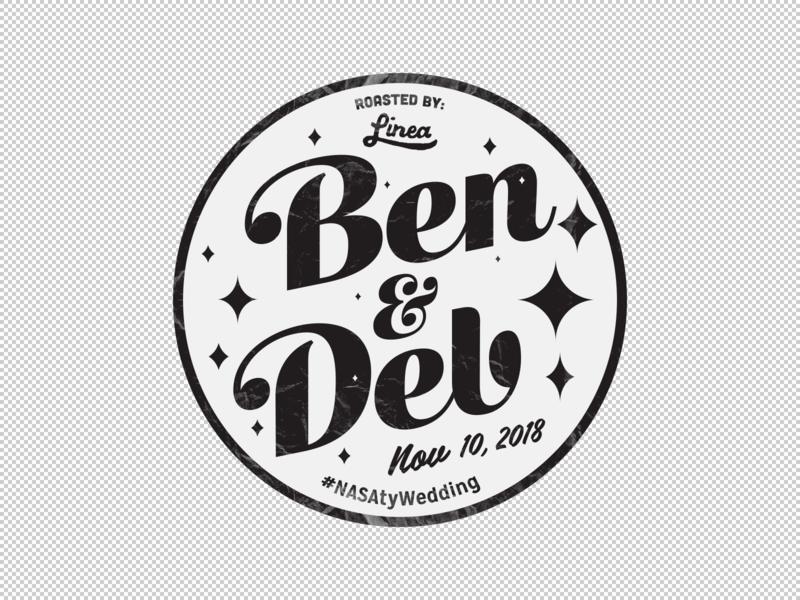 Ben & Deb Coffee Bean Sticker illustration vector