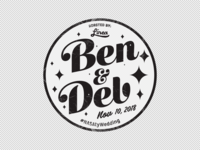 Ben & Deb Coffee Bean Sticker illustration vector