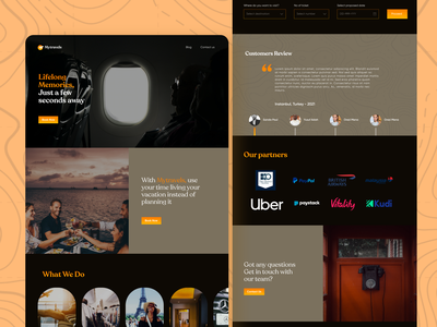 Travel Agency - Landing Page app ui travel design web design landing page