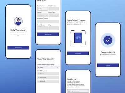 KYC Redesign - Introducing 2FA kyc mobile ui illustration case study app ui