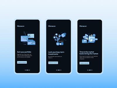 Crypto Walkthrough Mobile Design sign in design walkthrough design app ui mobi