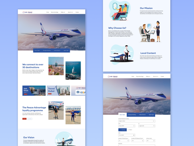 Flyairpeace.com - Landing Page Redesign