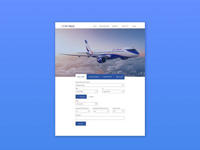 Flight Booking - Web Design aeroplane web ui website flight