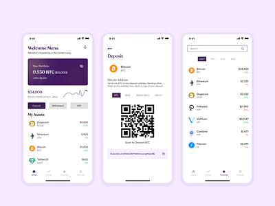 Crypto Wallet Mobile Design crypto wallet crypto design case study ui app design ux app ui