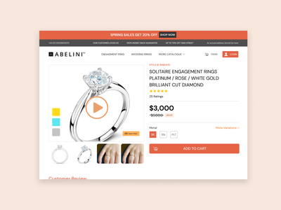Beauty Product Checkout Page ui
