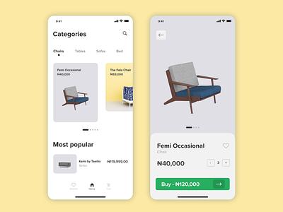Furniture App mobile ui app design category page furniture app app ui