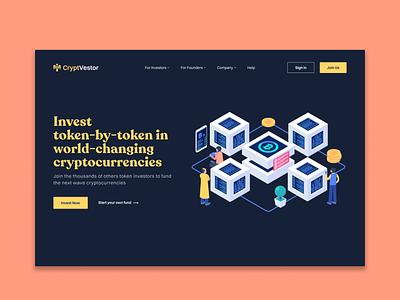 Crypto Investor - Landing Page ux mobile ui cryptocurrency landing page case study app design ui app ui