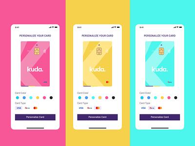 Fintech Personalized ATM Card ui app design design fintech mobile ui app ui