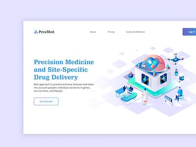 Medical Landing Page web ui illustration medical design web design