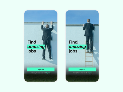 Sign Up Page - Job Seekers photography mobile ui ui app ui