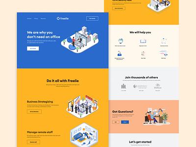 Landing Page Design branding app design logo case study illustration web design design mobile ui landing page