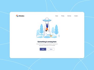 Error Page - Web Design design web design case study app ui