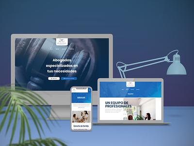 Medrano Abogados Web landing page web