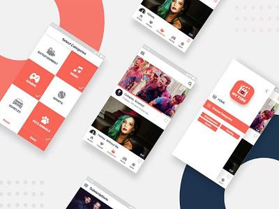 Mobile App Design mobile app development mobile app design streaming video vector ux ui app design branding illustraion