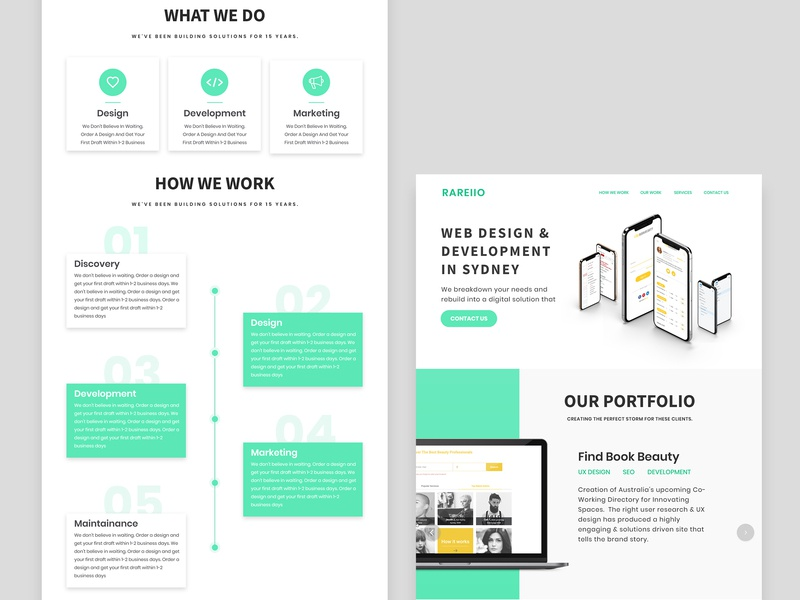 Landing Page Design By Rareiio On Dribbble