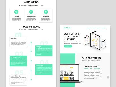 Landing Page Design design ux ui website landing page design web design company web development company apps illustrations clean homepage