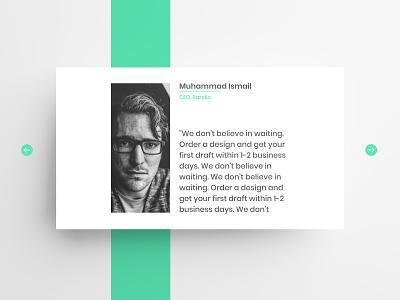 Testimonial Design branding feedback testimonials website landing page ux ui design