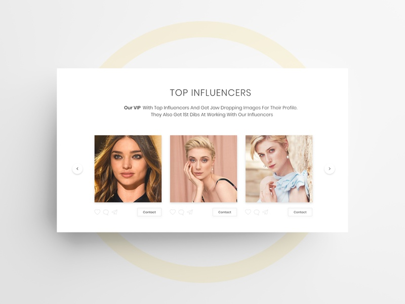 Influencer design influencer ux ui landing page design web development website design branding website design beauty app