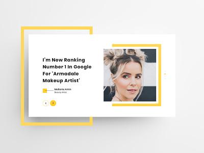 Beauty App Testimonial beauty app landing page feedback testimonial branding ux ui design website
