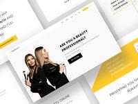 Beauty App Landing Page