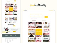 Homepage For Beauty App