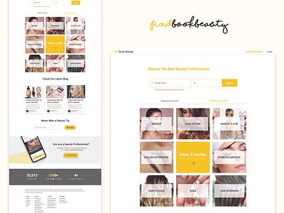 Homepage For Beauty App clean smooth sleek website ux ui branding marketplace design artists landng page beauty app