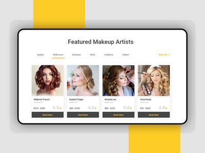 Beauty App Design