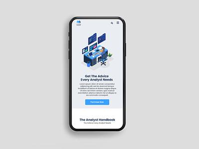 Mobile Responsive Design vector typography landing page design illustration landing page custom web design website design ux ui