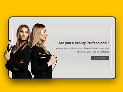 Landing Page web ecommerce beauty app typography marketplace app illustration custom web design clean branding website design ux ui landing page beauty
