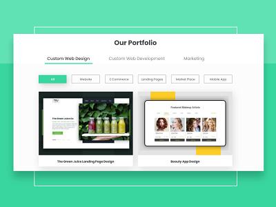 Portfolio Page web portfolio page rareiio typography illustration landing page custom web design clean branding website design ux ui
