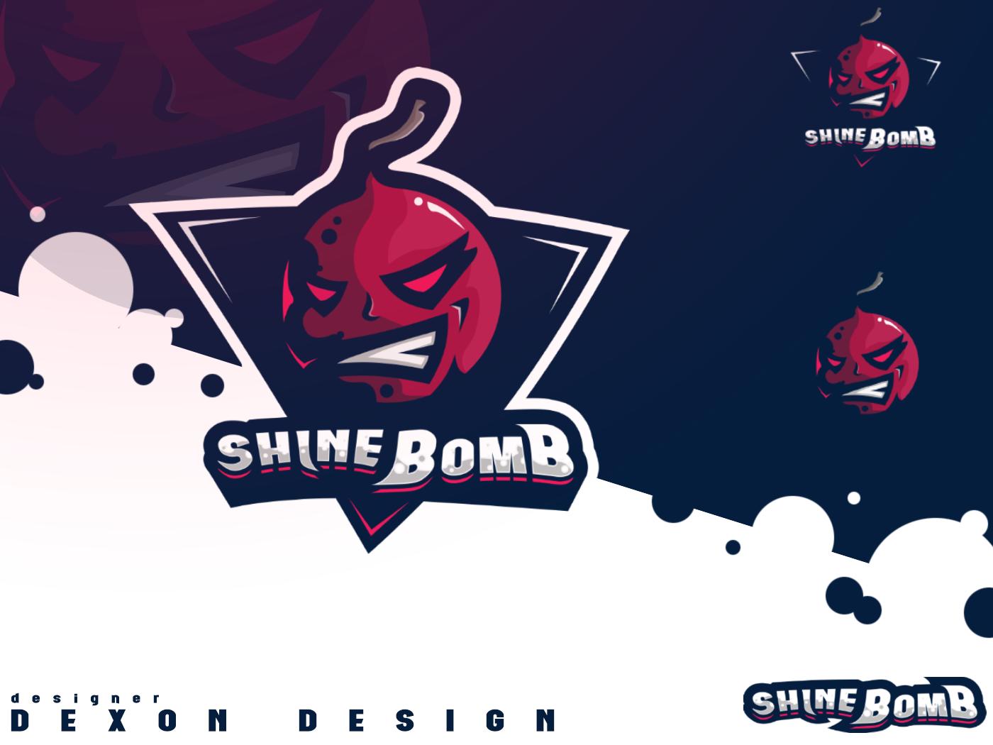 Mascot Logo ShineBomb vector team logo mascot design mascot character esports esport logo