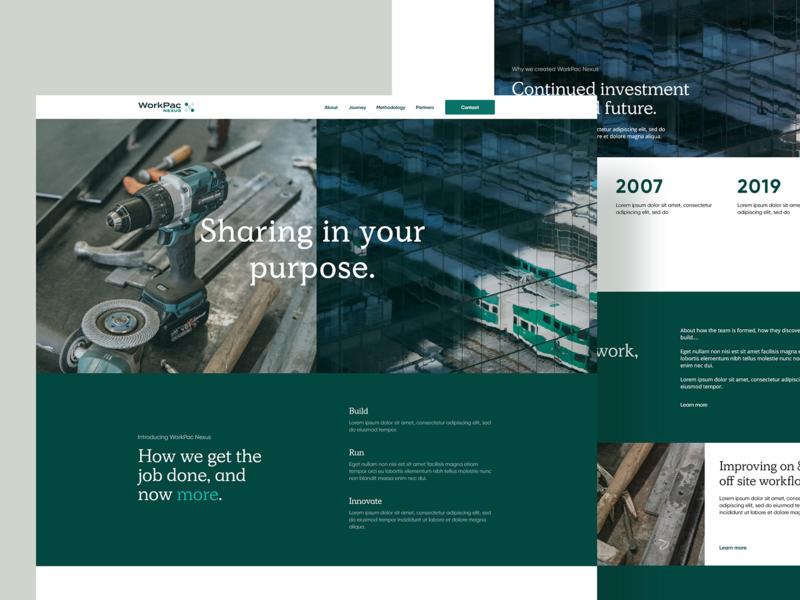 WorkPac Nexus Exploration web design app oakland studio brisbane workpac ux landing ui