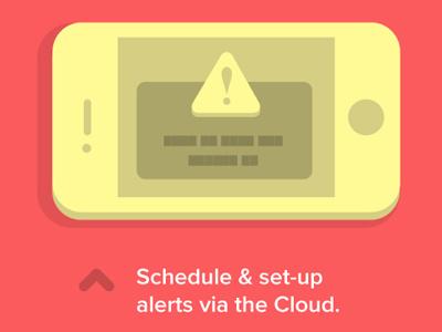 Phone Illustration iphone illustration alert cloud minimal