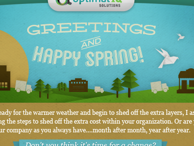 Spring Time Email Header paper email oragami illustration texture