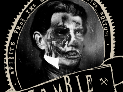 Final Art zombie zinfandel wine illustration living dead dead