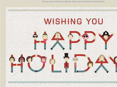 Happyholidays illustration holidays happy email design typography