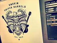 Smokin Sniper Barrels Logo