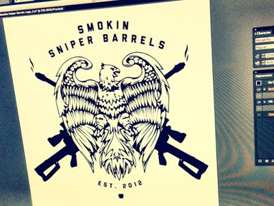 Smokin Sniper Barrels 2 smokin sniper barrels band music illustration logo