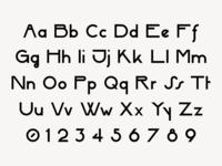 Hikari Sans-Serif Font Alphabet