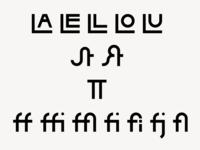 Hikari Sans-Serif Display Font Ligatures