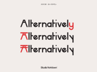 Hikari Sans-Serif Display Font Stylistic Alternates