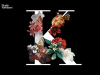 Moody Floral Letter K