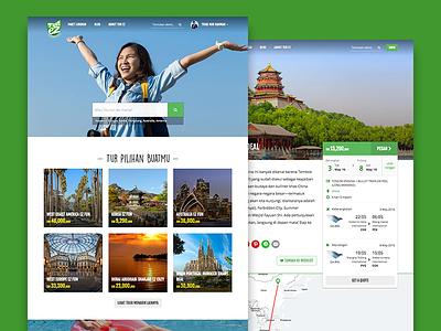 TurEZ Website trip destination e-commerce indonesia explore package tour vacation web turez